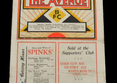 Bradford Park Avenue v Sheffield Utd 12.09.1936