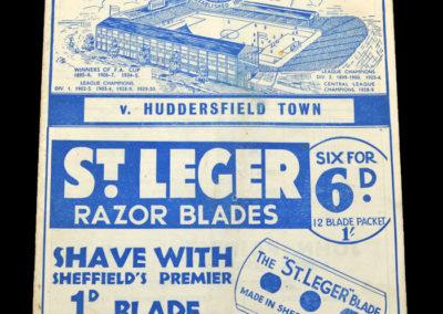 Sheff Wed v Huddersfield 17.09.1936