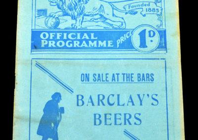 Millwall v Man City 06.03.1937