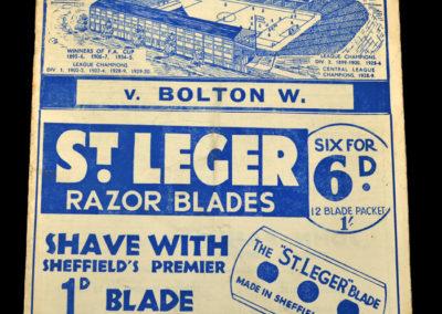 Sheff Wed v Bolton 29.03.1937