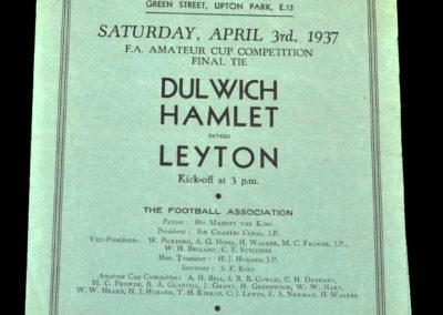 Dulwich v Leyton 03.04.1937 - ( FAAC Final)