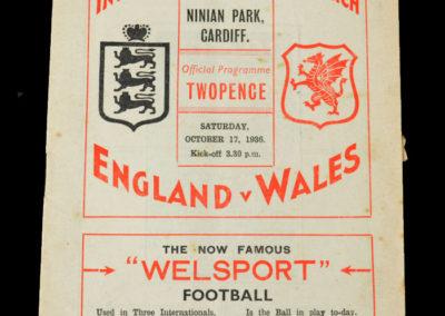 Wales v England 17.10.1936