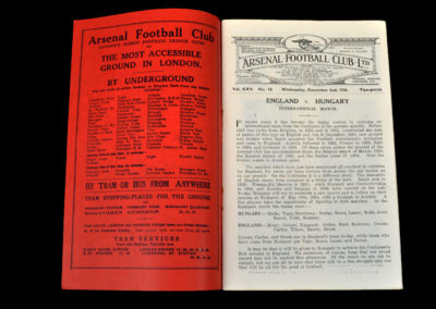 England v Hungary 02.12.1936