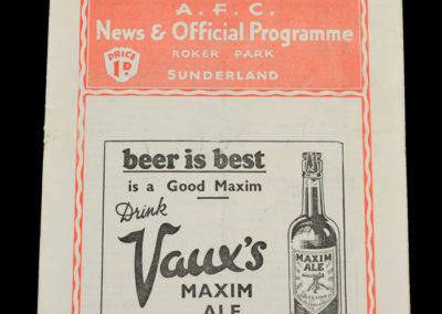 Sunderland v Preston 05.09.1936