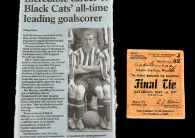 FA Cup Final - Sunderland v Preston 01.05.1937 - Article and Ticket
