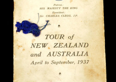 English Amateurs Tour of New Zealand and Australia - Tour Itinerary April - Sep 1937