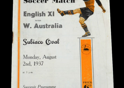 England v Western Australia 02.08.1937