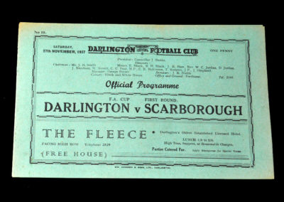 Darlington v Scarborough 27.11.1937 1st Round 0-2