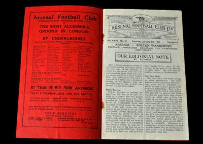 Arsenal v Bolton 08.01.1938 3rd Round 3-2