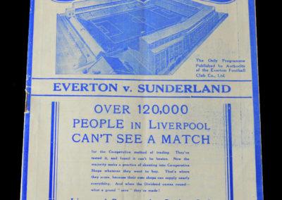Everton v Sunderland 22.01.1938 4th Round 0-1