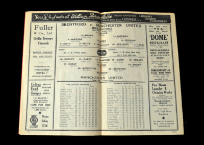 Brentford v Manchester Utd 12.02.1938 5th Rd 2-0