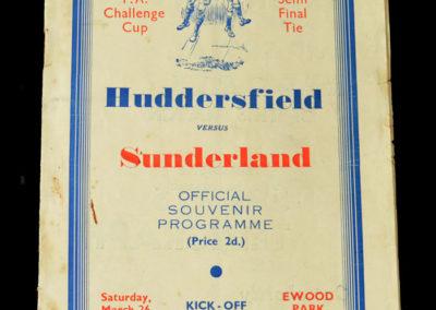 Huddersfield v Sunderland 26.03.1938 Semi Final 2-1