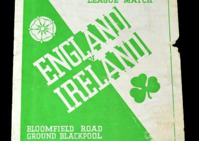 English League v Irish League 06.10.1937