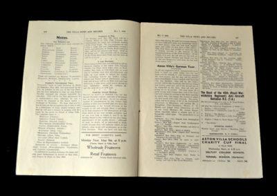 Aston Villa v Norwich 07.05.1938
