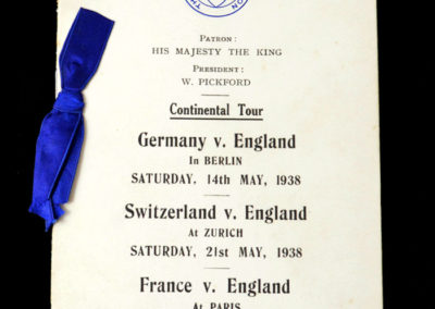 England Tour Itinerary 14-26 May 1938