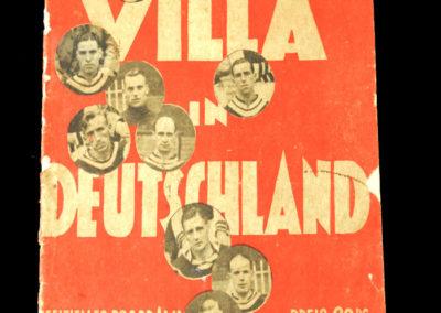 Germany XI v Aston Villa 15.05.1938