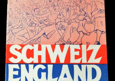 Switzerland v England 21.05.1938