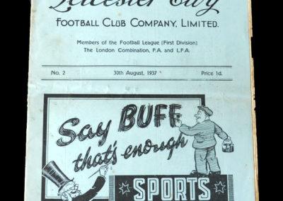 Leicester v Sunderland 30.08.1937