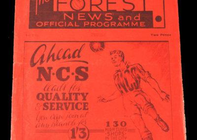 Nottingham Forest v Stockport 01.09.1937