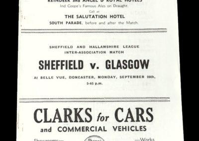 Sheffield v Glasgow 20.09.1937