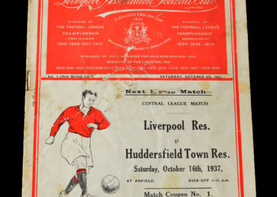 Liverpool v West Brom 09.10.1937 Busby & Murphy on opposite sides