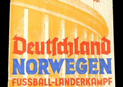 Germany v Norway 24.10.1937