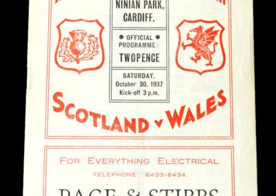 Wales v Scotland 30.10.1937