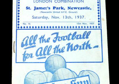 Central League v London Combination 13.11.1937