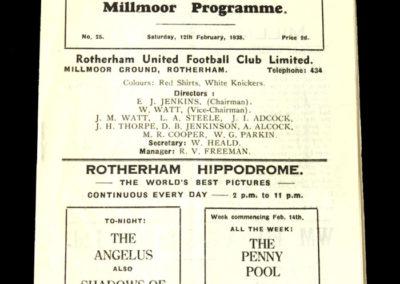 Rotherham v Rochdale 12.02.1938