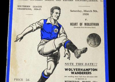 Ipswich v Hearts 05.03.1938