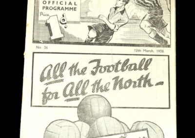 Newcastle v West Ham 12.03.1938