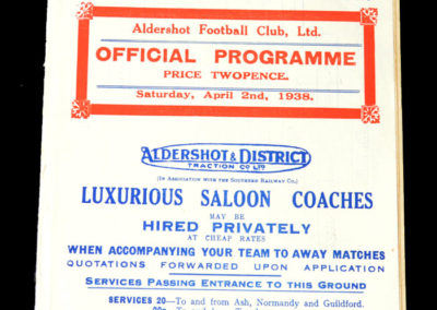 Aldershot v Walsall 02.04.1938