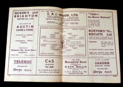 Blackpool v Charlton 15.04.1938