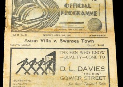 Swansea v Aston Villa 18.04.1938