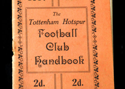 Spurs Club Handbook 1937/1938