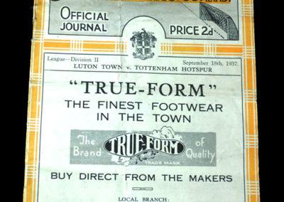 Spurs v Luton 18.09.1937