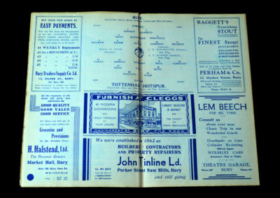 Spurs v Bury 25.12.1937