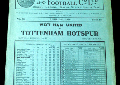 Spurs v West Ham 02.04.1938