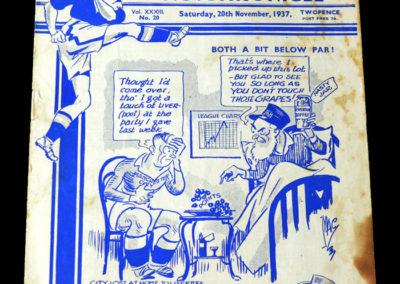 Chelsea v Manchester City 20.11.1937