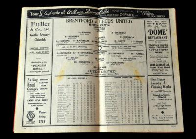 Brentford v Leeds 11.12.1937
