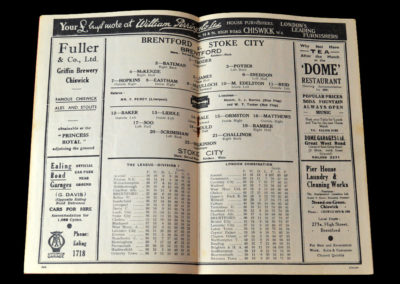 Brentford v Stoke 16.04.1938