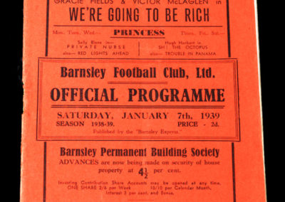 Barnsley v Stockport 07.01.1939 3rd rd 1-2