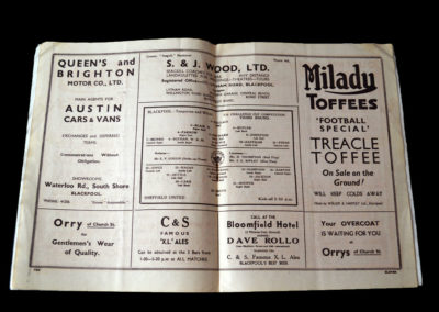 Blackpool v Sheffield Utd 07.01.1939 3rd rd 1-2