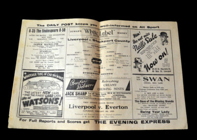 Liverpool v Stockport 21.01.1939 4th rd 5-1