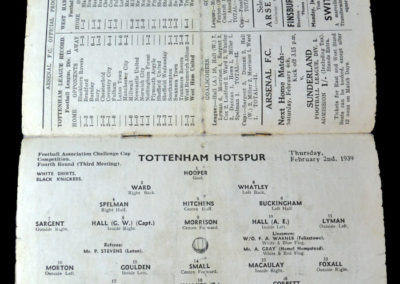 West Ham v Spurs 02.02.1939 4th rd 2nd rep 2-1