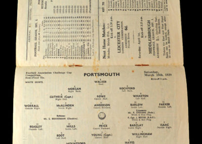 Portsmouth v Huddersfield 25.03.1939 Semi Final 2-1