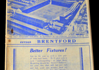 Everton v Brentford 03.09.1938