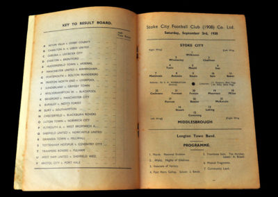 Stoke v Middlesbrough 03.09.1938