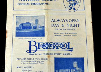 Bristol Rovers v Newport 29.10.1938