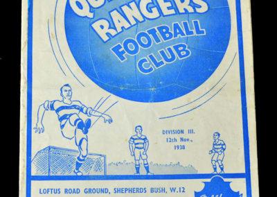 QPR V Aldershot 12.11.1938